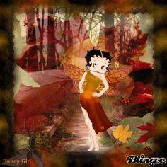Betty Boop Autumn Breeze