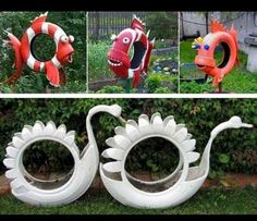 Diy Discover Best 12 Arara azul feita com pneu de kart reciclagem pneus Tire recycling reciclaje llantas SkillOfKing. Recycled Garden Art, Garden Crafts, Recycled Crafts, Garden Projects, Diy Projects, Diy Crafts, Fabric Crafts, Tire Garden, Garden Planters