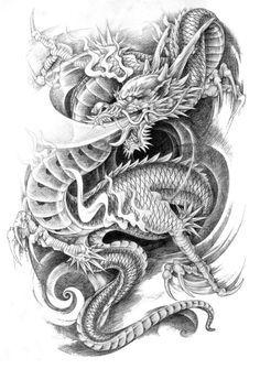dragon tattoo vorlagen - Google Search