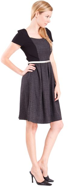 Pleated Suit Dress with Belt  #dress #suits #cocktaildress #officewear #formal #classy #keyholedress #newarrivals #shoponline #clothes #clotheseffect