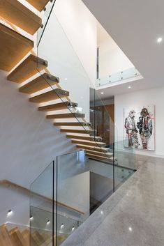 The design of a minimalist home staircase is important in the design of a minimalist house. In the design of a house, the presence of stairs is part of the interior of the house tha… House Stairs, Facade House, Home Stairs Design, House Design, Stair Design, Modern Staircase, Staircase Ideas, Floating Staircase, Design Studio