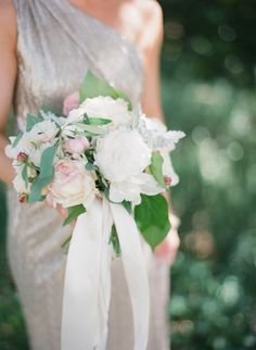 Pretty bridesmaid bouquet: http://www.stylemepretty.com/2015/06/29/romantic-san-ysidro-ranch-summer-wedding/ | Photography: Diana McGregor - http://www.dianamcgregor.com/