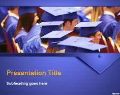Free Graduation Ceremony PowerPoint Template | Free Powerpoint Templates