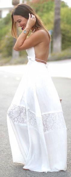 Carrie Bradshaw White Sunny Maxi Dress