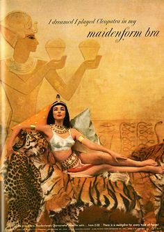 Maidenform Ads: Inside the Madness – Millicent and Carla Fran Vintage Advertisements, Vintage Ads, Vintage Posters, Vintage Glamour, Vintage Prints, Lingerie Vintage, Vintage Underwear, King Tut Tomb, Egyptian Queen