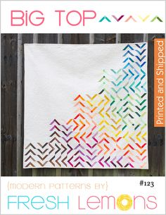 Image of Big Top Quilt Pattern - Printed