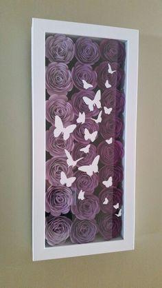 ideas for diy paper butterflies wall shadow box Flower Shadow Box, Diy Shadow Box, Shadow Box Frames, Flower Boxes, 3d Box Frames, Paper Butterflies, Butterfly Wall, Paper Flowers, Inkscape Tutorials