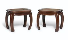 A Rare Pair of Huanghuali Lobed Stools. Chinese Painting, Chinese Art, Demilune Table, Antique Chinese Furniture, Consoles, Chinese Antiques, Antique China, Golden Color, Asian Style