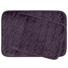 Grecian Large 2 Piece Plush Memory Foam Bath Mat Set