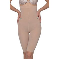 Hanes Plus Size High-Waisted Thigh Shapers - Extended Siz… Thighs, Smooth, Bodycon Dress, Photoshop, Nude, Plus Size, Slim, Dresses, Fashion