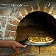 Indulge in oven fresh wood fired pizzas at the city's best Mediterranean restaurant – Sevilla.