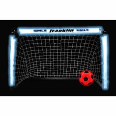 Novelty soccer goal set than allows you to play in the dark. Great fun for kids.