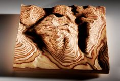 Show Off Your Favorite Topography With Google-Sculpted Woodwork