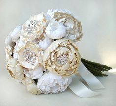 love the extra added jewel pieces to the center of the peonies
