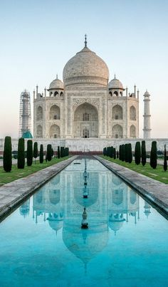 This week at Hammond Design Group we will be featuring the notorious Taj Mahal. The Taj Mahal was built between the year 1632 and taking around people to construct. What most people do not realize is that the Taj Mahal is actually a mausoleum! Places Around The World, Oh The Places You'll Go, Travel Around The World, Places To Travel, Places To Visit, Taj Mahal India, India India, Delhi India, Bangalore India