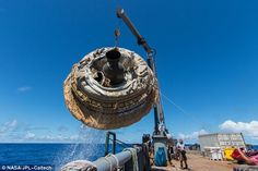 Hours after the June 28, 2014, test of NASA's Low-Density Supersonic Decelerator over the ...