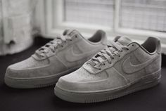 Nike air force 1 blanche velours