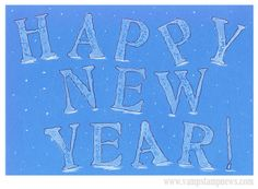 Stamped & Doodled New Years Card