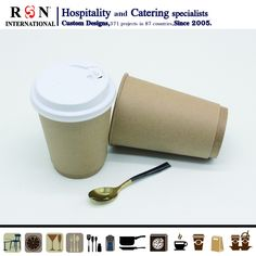 Disposable Coffee Cups, Cafe Shop, Catering, Buffet, Custom Design, Tableware, Coffee Shops, Coffee Store, Dinnerware
