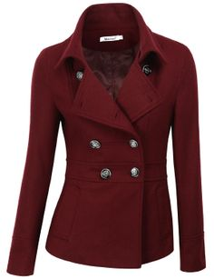 Doublju Wool Blended Classic Coat Jacket ($17.59) - http://www.amazon.com/exec/obidos/ASIN/B00H2C0GLW/hpb2-20/ASIN/B00H2C0GLW