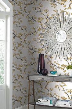 Florence's mission was to change the perception that wallpaper was drab, and she undoubtedly achieved this with her diverse collection. Our wallpapers are printed by skilled craftspeople using traditional methods of printing. Florence Broadhurst, Design Repeats, Australian Artists, Chinoiserie, Home And Garden, York, Wallpaper, Interior, Branches