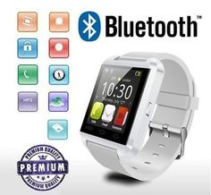 Bluetooth Smart watch compatible to use with many smartphones like iPhone and Samsung phone models! Looks great, gifty and trendy. Dial and answer calls, sync with your phonebook! | Shop this product here: spree.to/ayu7 | Shop all of our products at http://spreesy.com/Sibrinacreations    | Pinterest selling powered by Spreesy.com
