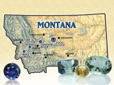 Fancy Montana Sapphires are found in three major areas.