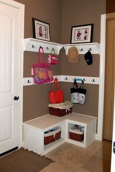 Drop zone when you dont have space for a mud room - Click image to find more Design Pinterest pins