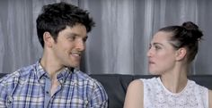 Comic-con interview 2012. I love the way he looks at Katie