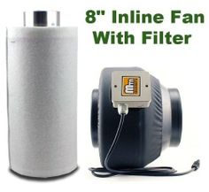 """Cheap New 4/6/8/"""" Inline Exhaust Fan Blower Carbon Filter Scrubber Combo Hydroponic (8"""" Fan & Filter Combo) Reviews » Cheap Wall Exhaust Fans Carbon Filter, Inline, Hydroponics, Exhausted, Filters, Fans, Hydroponic Gardening, Aquaponics"""