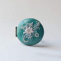 Floral Locket Ring by ReveriePhotoHandmade on Etsy, $25.00