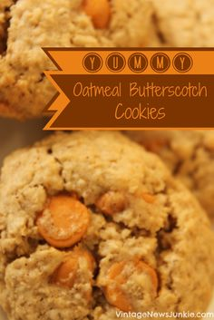 Cookies on Pinterest | Oatmeal Cookies, Oatmeal Butterscotch Cookies ...