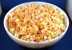 macaroni salad with crab meat...came out better than expected! I've made it a few times for parties and potlucks. Everyone loved it : D