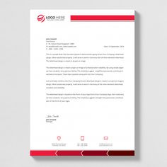 Letterhead template in flat style Premium Vector Free Letterhead Design, Letterhead Design Inspiration, Letterhead Template, Brochure Template, Word Template Design, Id Card Template, Flyer Template, Footer Design, Brochure Design