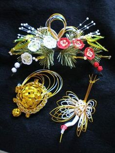●松竹梅の和装髪飾り・鶴亀指輪和装髪飾り・オーダー髪飾りのブライダル・ベルLuckです。お祭りシーズンですね。写真は神楽を踊られる方のご注文で制作した松のカチ…