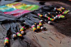VANS Neon Fringe And Beads. Lovin the beads