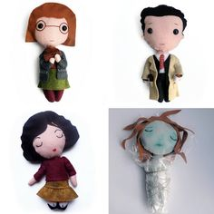 Make your own felt Twin Peaks dolls // PDF patterns instant
