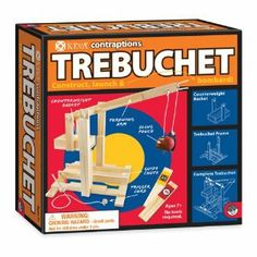 Build and actually use functional engineering projects like a Trebuchet, Wrecking Ball or Catapult. Stem Science, Science Kits, Mad Science, Building For Kids, Building Toys, Building Ideas, Engineering Projects, Kid Projects, Science Projects