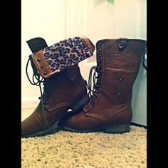 Cheetah combat boots.. droooling over here!