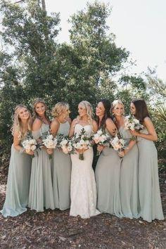 Cute Wedding Ideas, Wedding Goals, Wedding Inspiration, Wedding Planning, Green Bridesmaid Dresses, Wedding Bridesmaids, Sienna, Sage Green Wedding, Dream Wedding Dresses