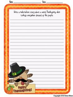 Daily Journal Writing Prompts For The Month Of November & Thanksgiving {Based On Common Core Standards} ~ Perfect For Writing Workshop! This resource & writing activity unit includes: ~ 14 Journal Covers for you to choose from ~ Reference Pages: * November Word Bank to aide students with spelling * Writer's checklist for students to remind them what to focus on while writing. ~The heart of this unit includes 27 different writing prompts about November, Thanksgiving and Fall. $
