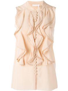CHLOÉ Frill Layered Blouse. #chloé #cloth #blouse