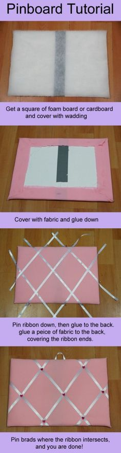 How to make a pin board