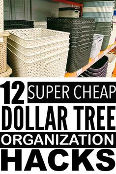 Genius Dollar Store Organization Hacks For Cheap Ways To Keep Your Home Organized - Looking for dollar tree organization ideas to get your home organized? Check out these dollar store - Organisation Hacks, Organizing Hacks, Organizing Your Home, Diy Organization, Diy Hacks, Organization Ideas For The Home, Diy Storage Hacks, Organizing Small Bedrooms, Cheap Storage Bins