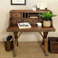 How to get the India Hicks look, shopping finds and tips on www.mumlittleloves.com.au This desk is from www.alfrescoemporium.com.au British Colonial, Caribbean style, Raffles, Rattan, Desk.