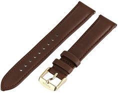 Fossil Womens S181195 Leather 18mm Watch Strap  Brown -- Check out the image by visiting the link.