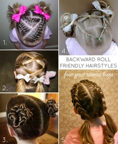 Compulsory Gymnastics Hairstyles - Tips of the Trade - Planning for the backward roll!