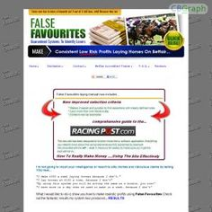 [GET] Download False Favorites High Quality Horse Racing System Proven To Win Bonus! : http://inoii.com/go.php?target=falsefavs
