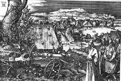 Landscape with a Cannon, an etching, c Albrecht Dürer, Nuremberg Albrecht Durer, Renaissance Kunst, Italy Pictures, Landsknecht, Reims, Landscape Drawings, Art Drawings, Pirate, British Museum