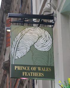Pub Sign Art a la cARTe: The Prince of Wales Feathers, London W1 - Warren S...